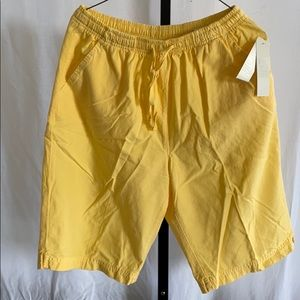 Women's yellow elastic waist shorts by Erika M NWT